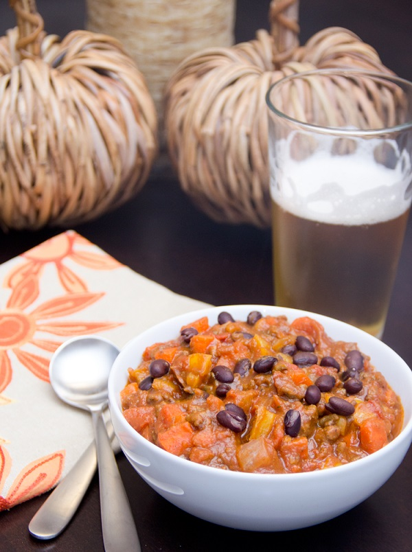 Drunken Pumpkin Chili from The Scrumptious Pumpkin