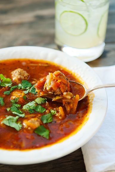 Mexican Meatball Albondigas Soup from Use Real Butter
