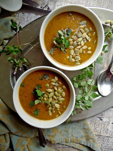 Pumpkin Black Bean Soup from Sunday Morning Pancakes