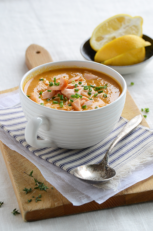 Salmon Bisque from An Edible Mosaic