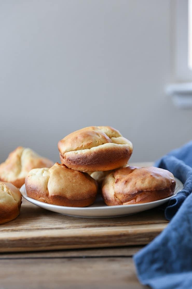 Gluten Free Hamburger Buns - soft, airy, tastes just like a potato bun!